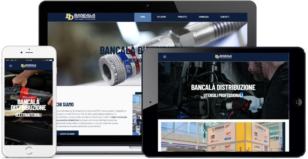 Realizzazione sito Internet Bancalà Distribuzione by QuoLAB, Web Agency Bologna