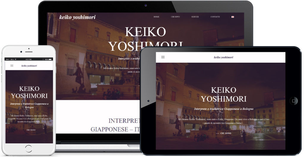 Realizzazione sito Internet Keiko Yoshimori by QuoLAB, Web Agency Bologna