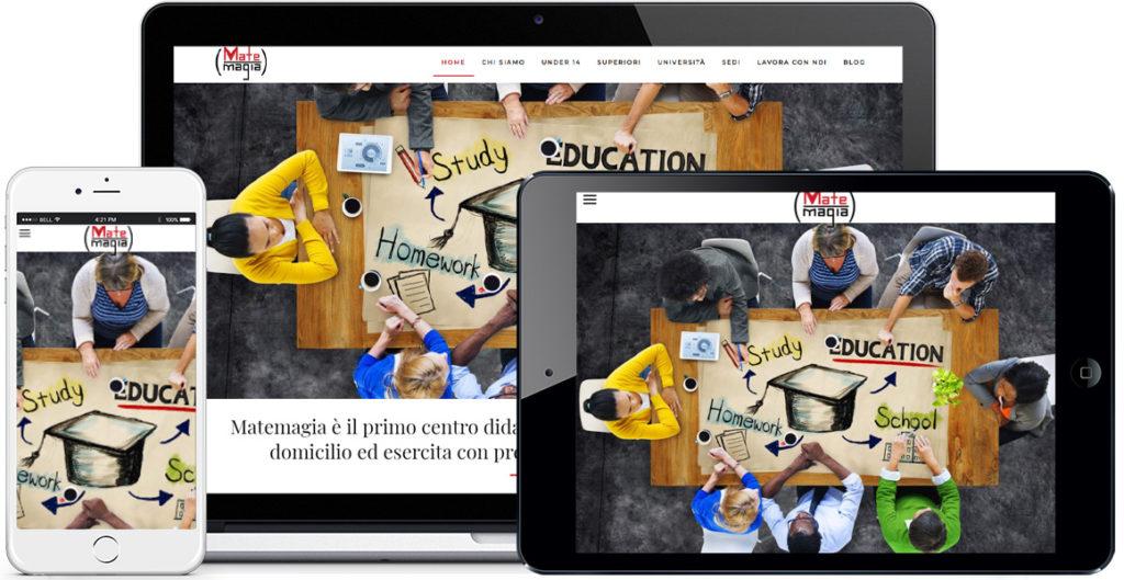 Realizzazione sito Internet Matemagia by QuoLAB, Web Agency Bologna