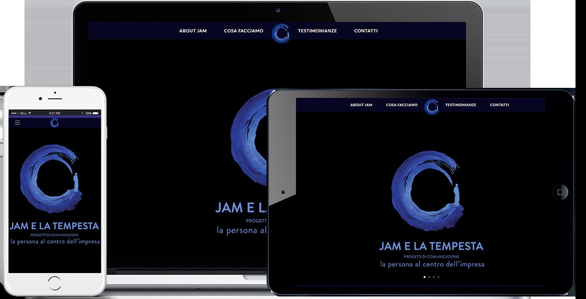 Realizzazione sito Internet Jam e La Tempesta by QuoLAB, Web Agency Bologna