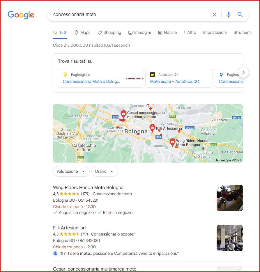 Google e i risultati Serp