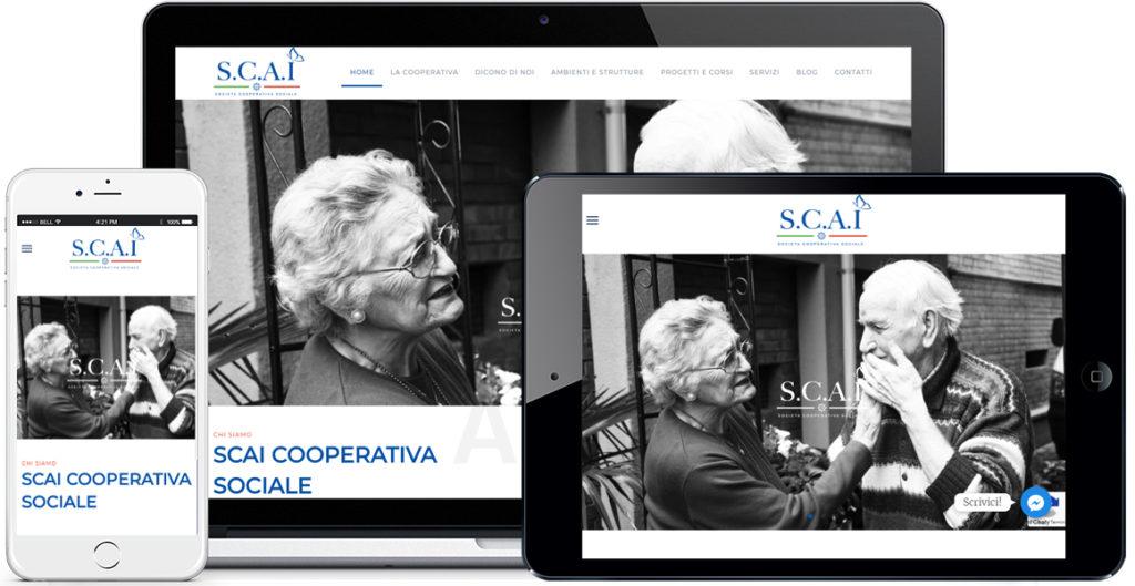 Realizzazione sito Internet Scai Cooperativa Sociale by QuoLAB, Web Agency Bologna