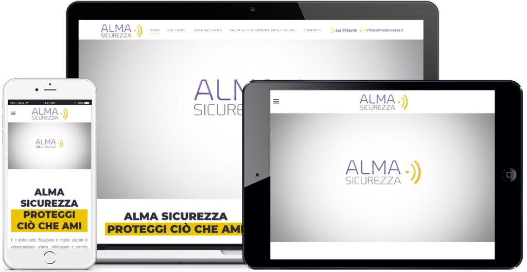 Realizzazione sito Internet Alma Sicurezza by QuoLAB, Web Agency Bologna