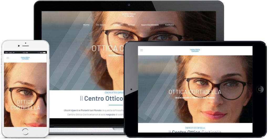 Realizzazione sito Internet Centro Ottico Corticella by QuoLAB, Web Agency Bologna