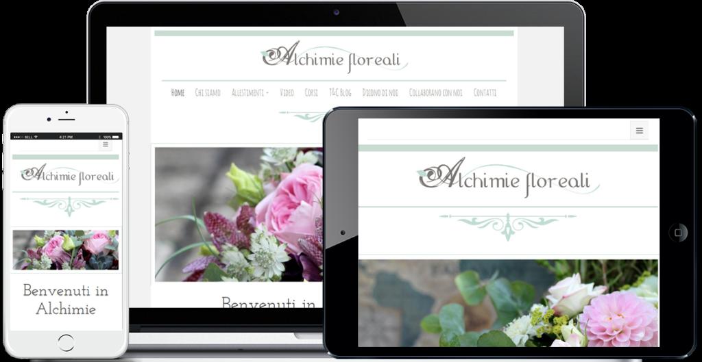 Realizzazione sito Internet Alchimie Floreali by QuoLAB, Web Agency Bologna