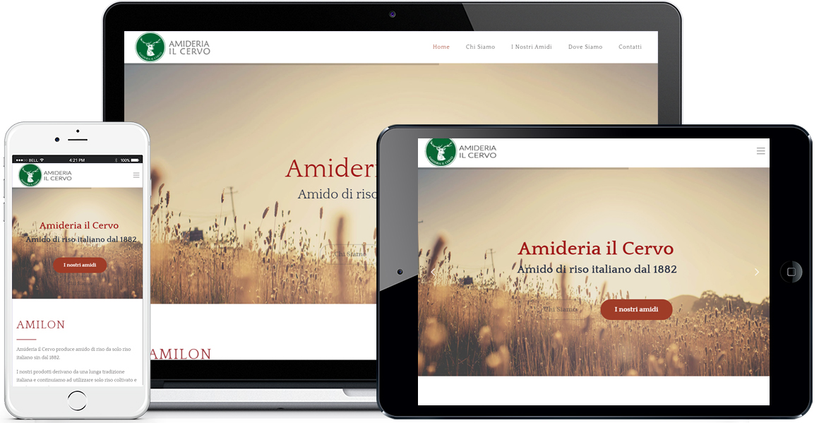 Realizzazione sito Internet Amideria Il Cervo by QuoLAB, Web Agency Bologna