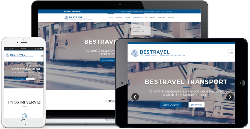 Realizzazione sito Internet Bestravel Transport by QuoLAB, Web Agency Bologna