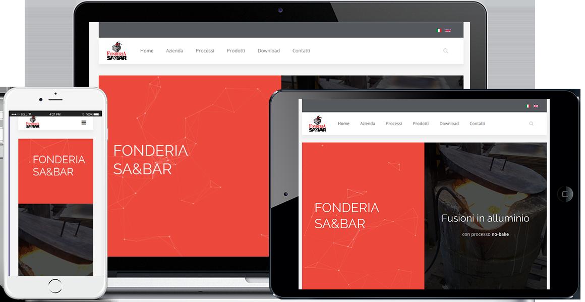 Realizzazione sito Internet Fonderia SA&BAR by QuoLAB, Web Agency Bologna
