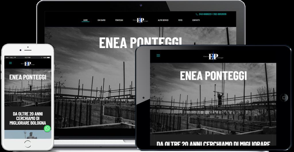 Realizzazione sito Internet Enea Ponteggi by QuoLAB, Web Agency Bologna