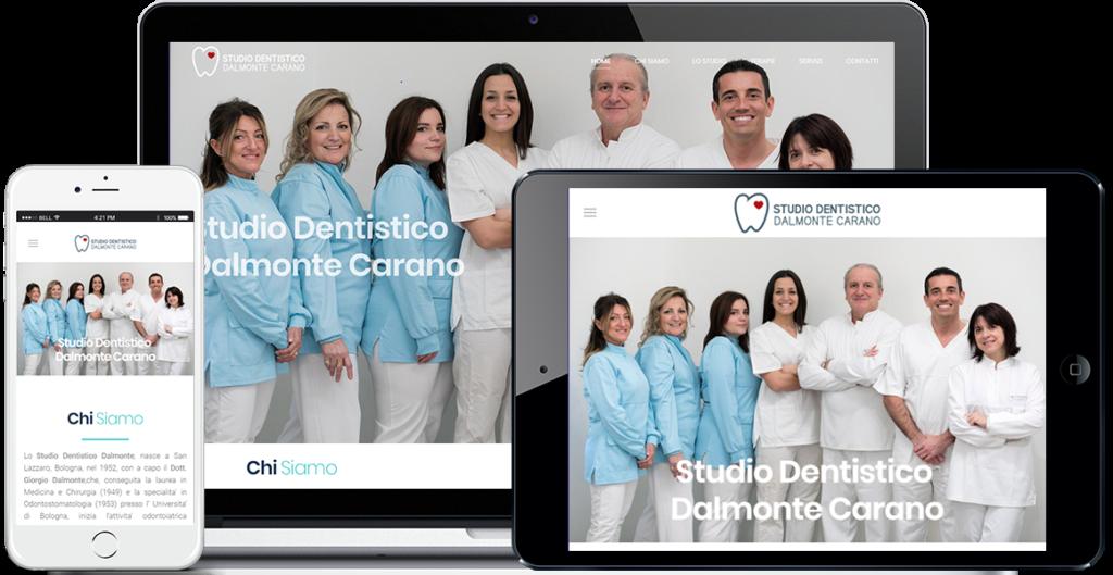 Realizzazione sito Internet Studio Dentistico Dalmonte Carano by QuoLAB, Web Agency Bologna